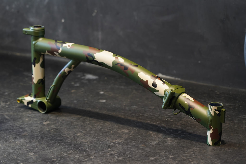 camouflage color coating with air brush #01